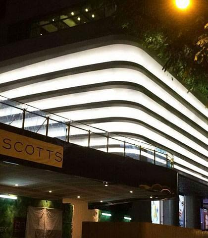在新加坡的DFS环球照明项目工程